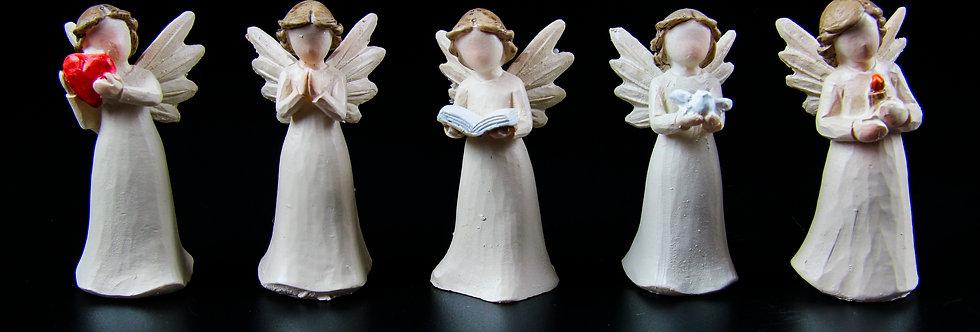 Porcelain Angel Figurine Set