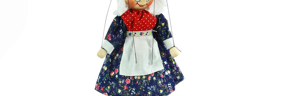 Wooden Puppet Grandmother