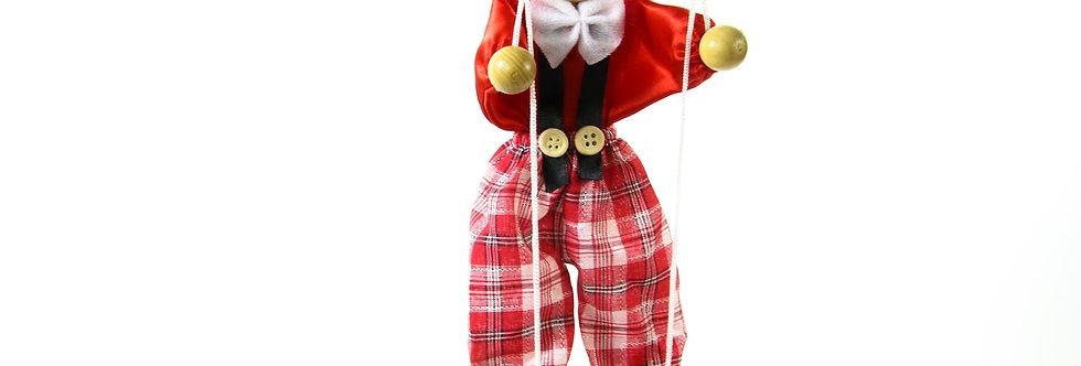 Wooden Puppet Clown