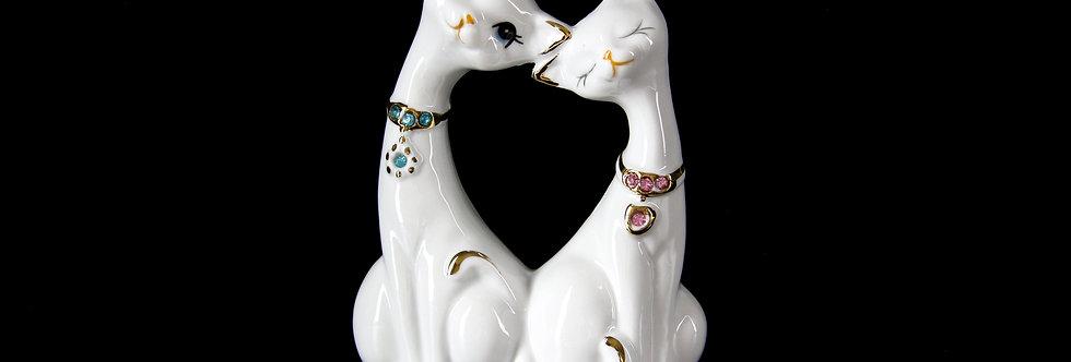 Porcelain Cat Figurine Set