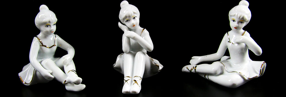 Porcelain Ballerina Figurines Set