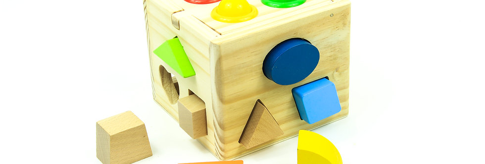 Shape Sorting Box with Wooden Hammer