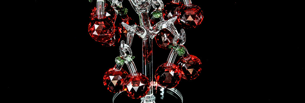 Decorative Crystal - White Tree with Red Fruits
