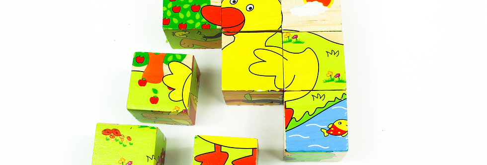 Farm Animals Block Puzzle 9 Pcs