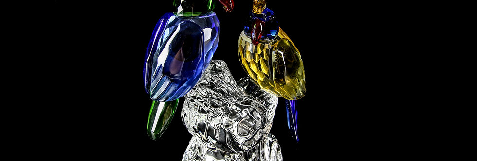 Decorative Crystal - Two Parrots