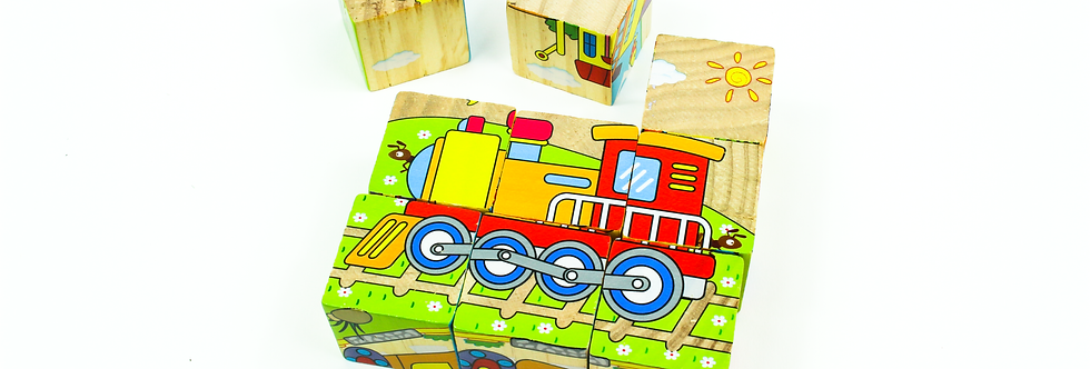 Vehicles Block Puzzle 9 Pcs