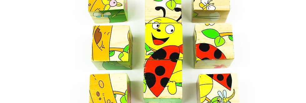 Pug Block Puzzle 9 Pcs