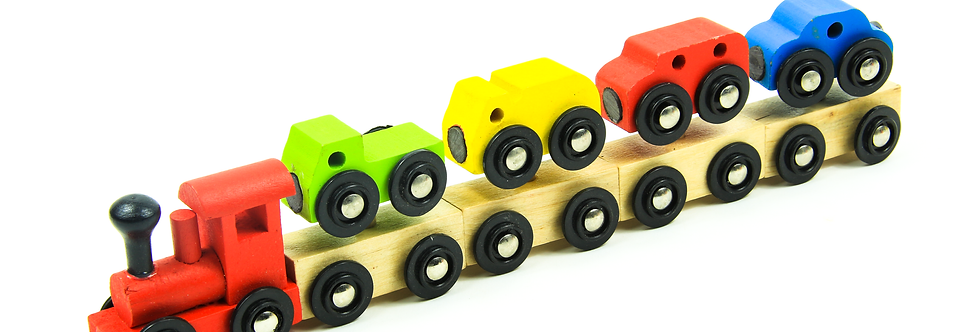 Wooden Stacking Train Magnet