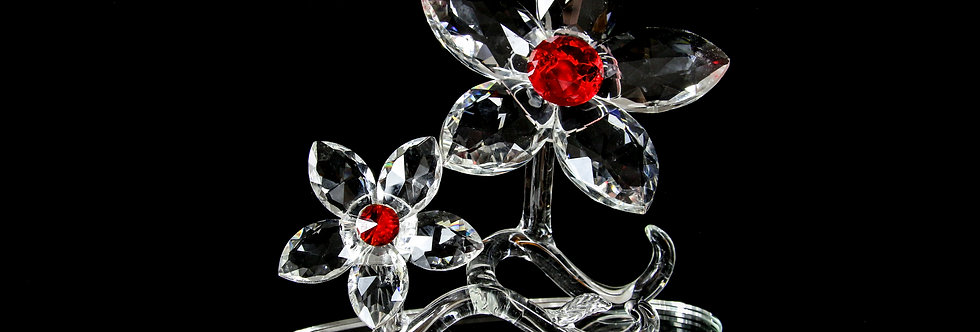 Decorative Crystal - Two Flowers