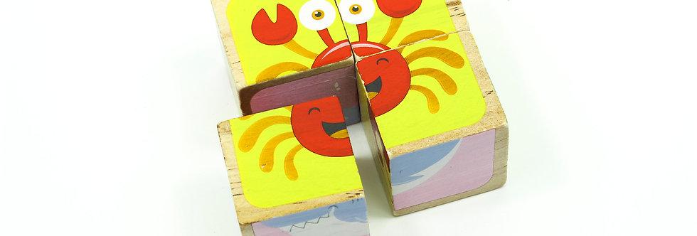 Underwater Animals Block Puzzle 4 Pcs