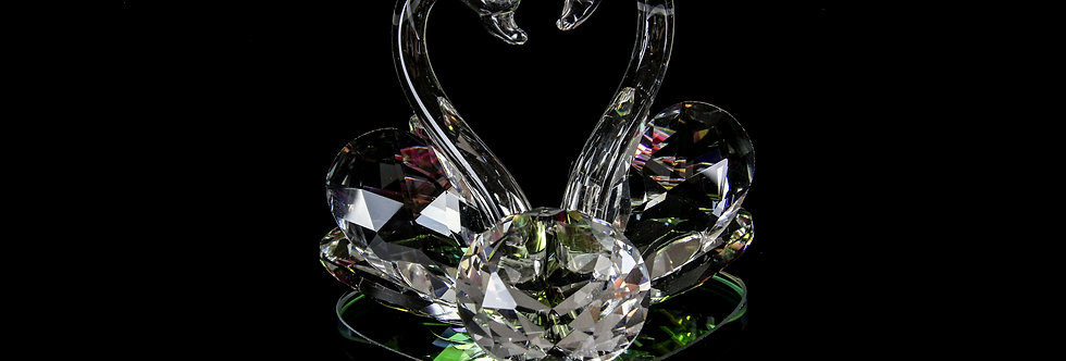 Decorative Crystal - Two Swans