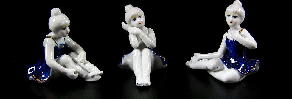 Porcelain Ballerina Figurine Set