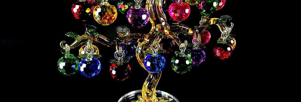 Decorative Crystal - Yellow Apple Tree