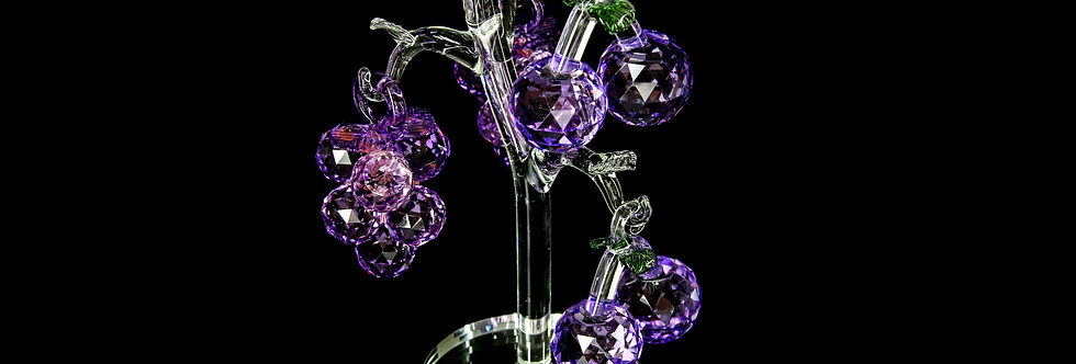 Decorative Crystal - White Tree with Purple Fruits