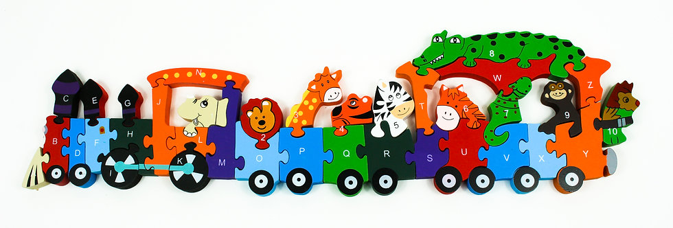 Puzzle Train Animals