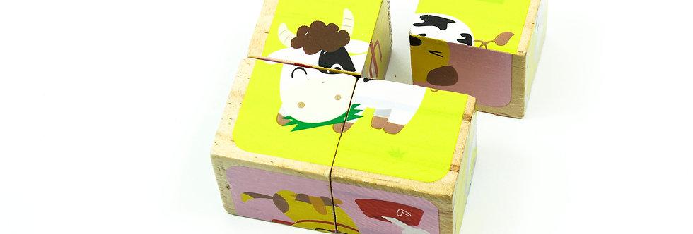 Animals Block Puzzle 4 Pcs