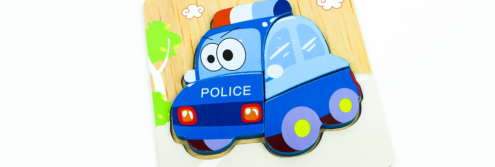 Wooden Police Car Puzzle