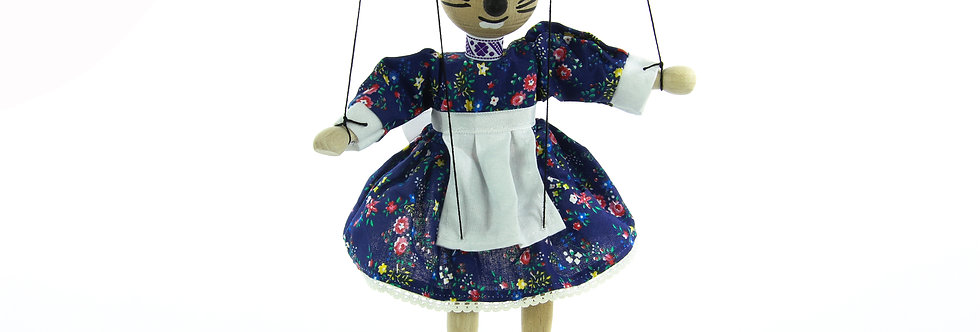 Wooden Puppet Mouse Girl