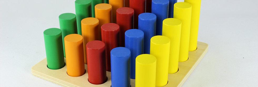 Montessori Cylinder Ladder Educational Wooden Toys