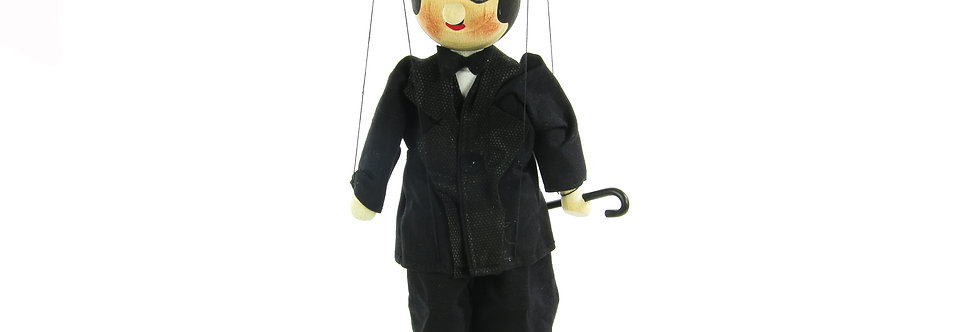 Wooden Puppet Charlie Chaplin