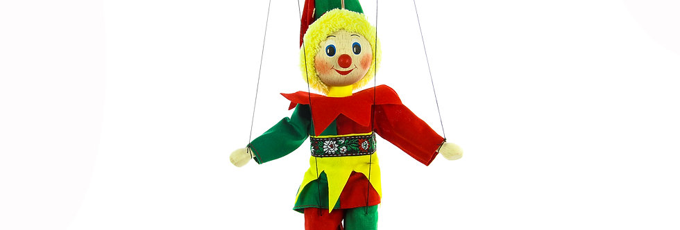 Wooden Puppet Clown