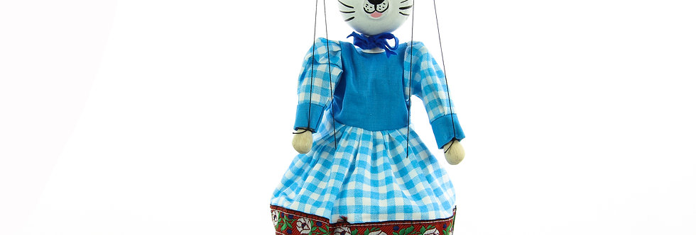 Wooden Puppet Cat