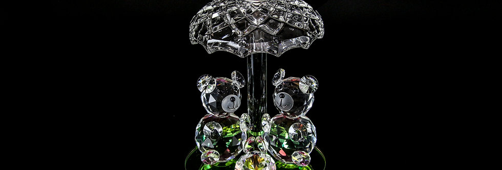 Decorative Crystal - Two Bears under a Roof