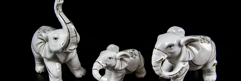 Porcelain Elephant Set