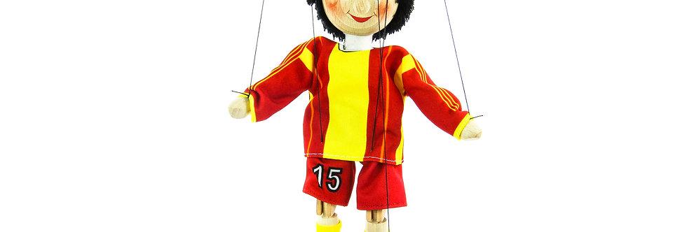 Wooden Puppet Footbal Player