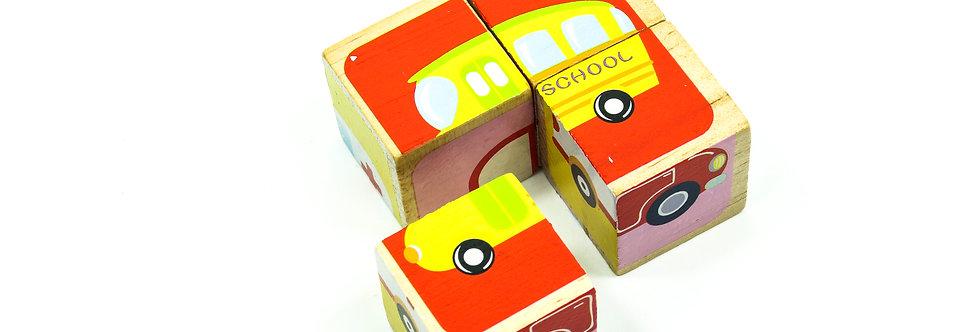Vehicles Block Puzzle 4Pcs