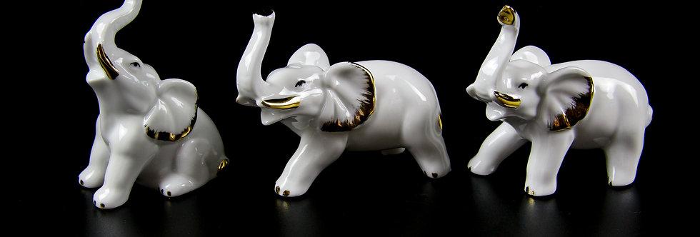 Porcelain Elephant Set