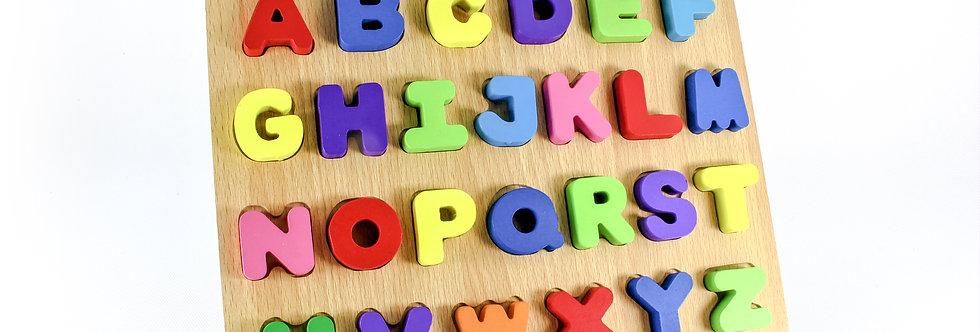 Wooden Alphabet Peg Puzzle
