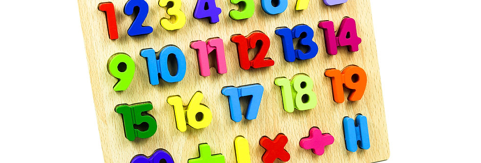 Wooden Numbers Peg Puzzle