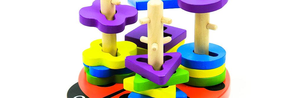 Creative Peg Puzzle - Ladybug