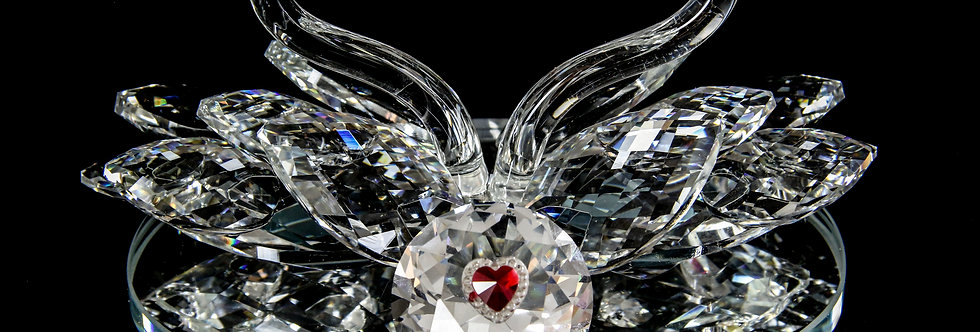 Decorative Crystal - Two Swans with Heart
