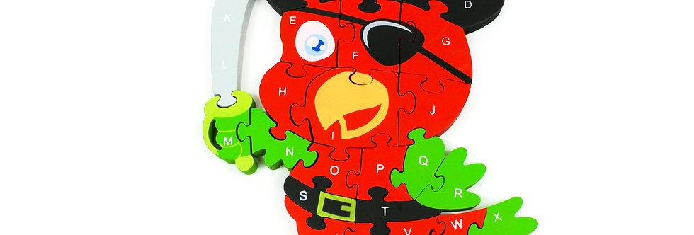 Puzzle Parrot-Pirate