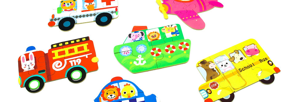 6-in-1 Paper Jigsaw Puzzles