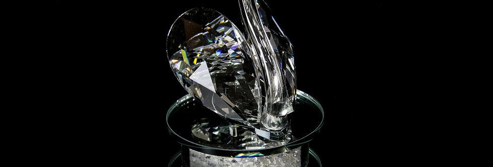 Decorative Crystal - Swan with Diamond base