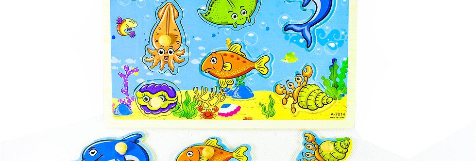 Sea Animals Peg Puzzle