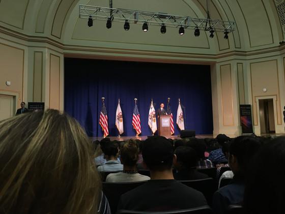 Haley attends Obama's speech