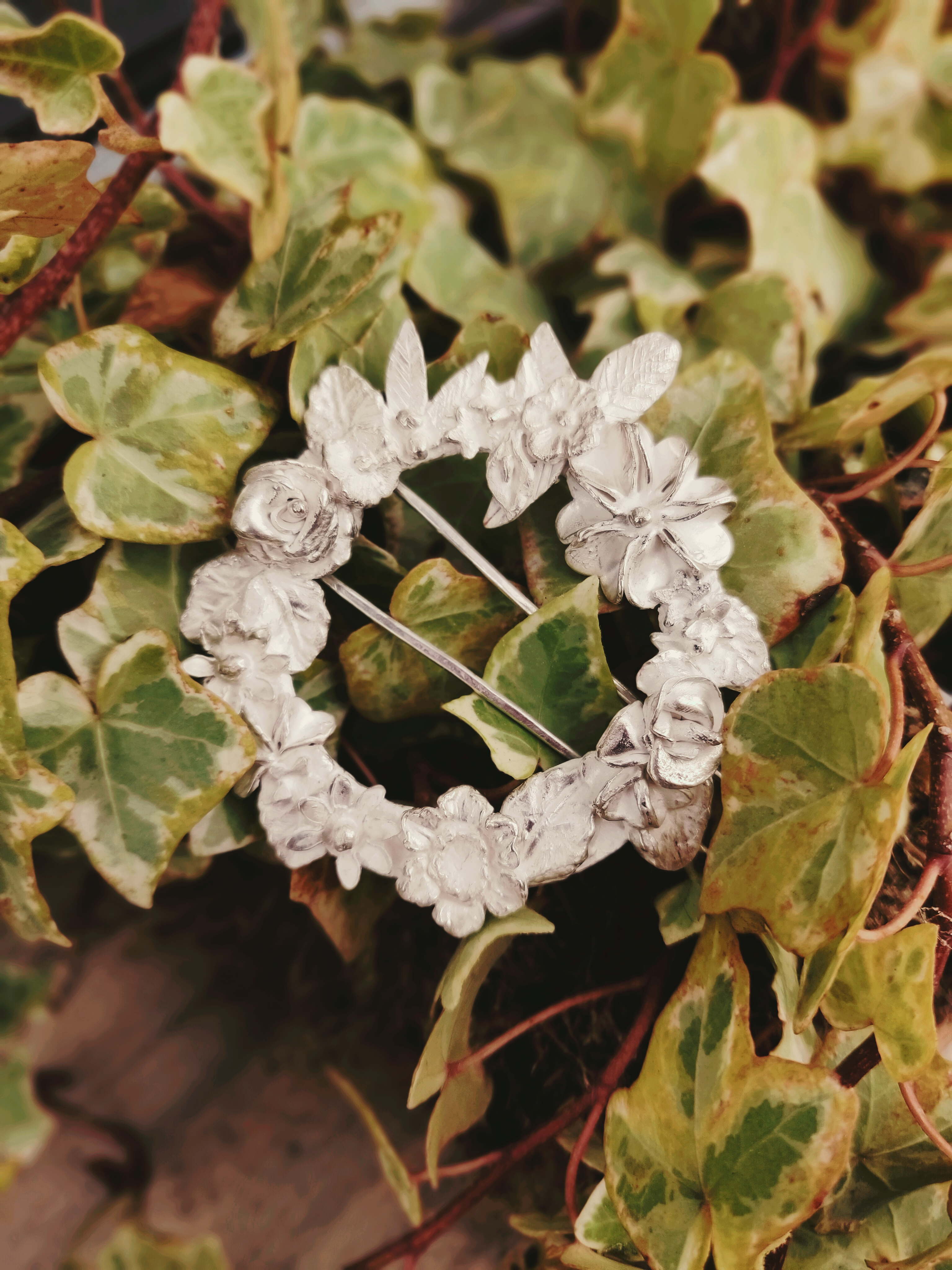 Floral Wreath Broach