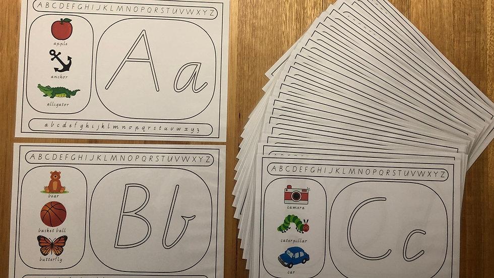 Alphabet Playdough/Tracing Mats
