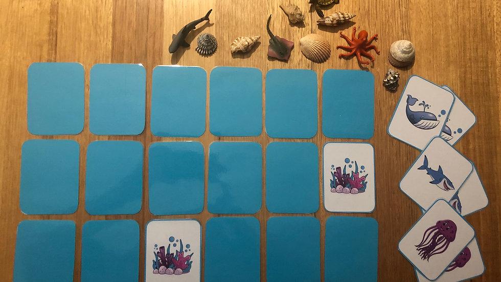 Memory Card Game - Ocean
