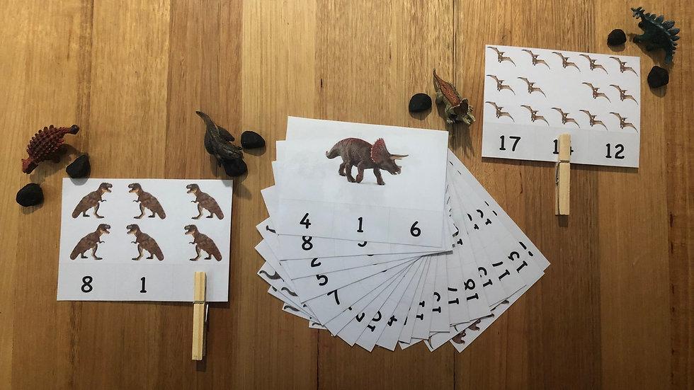 Numeracy Peg Cards 1 - 20