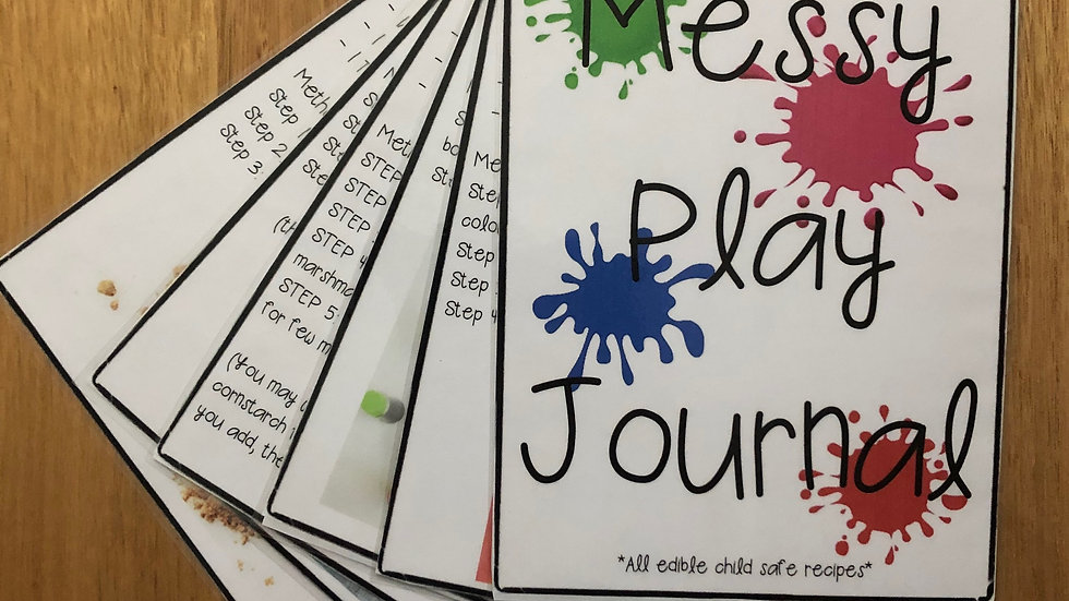 Edible Messy Play Journal