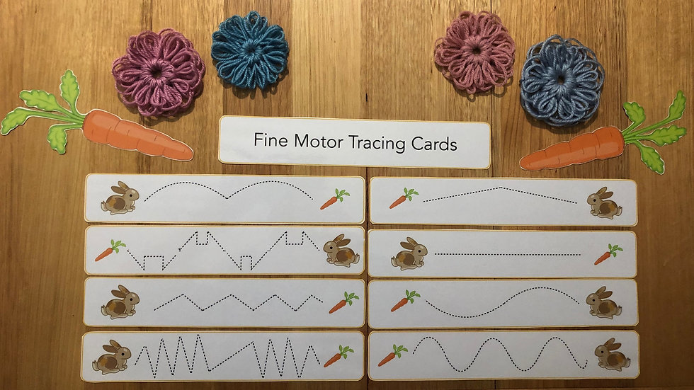 Fine Motor Tracing - Bunny