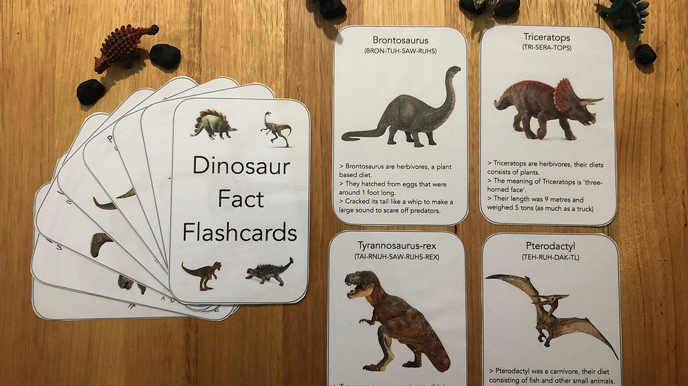 Dinosaur Factcards