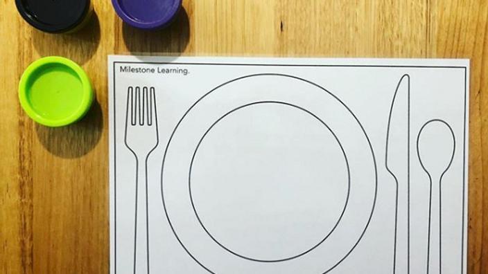 Dinner Play Dough Mat