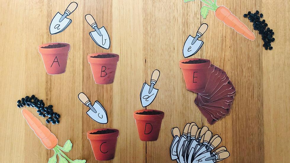 Lower & Upper Case Recognition Pot Plants