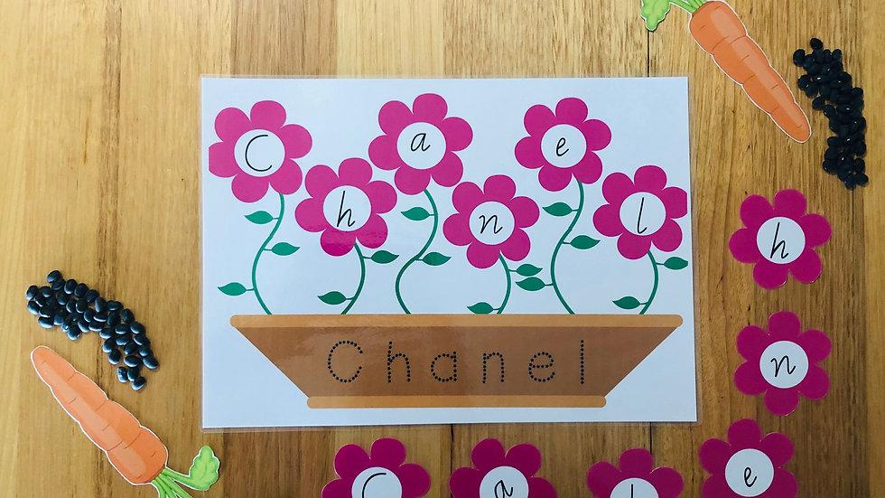 Flower Name Planter Pots